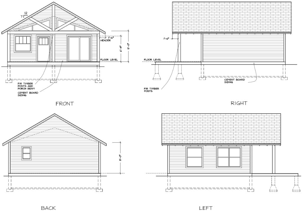 Cabin #1 Elevations 2