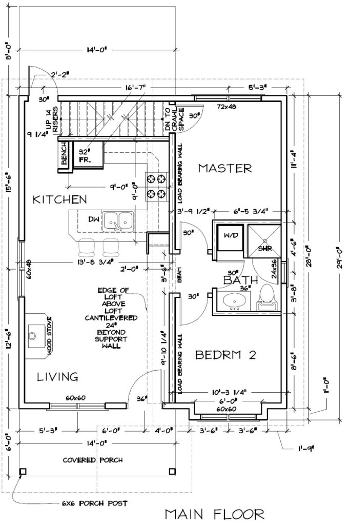 Cabin #2 Floor Plan