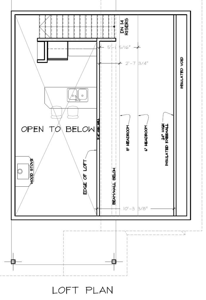 Cabin #2 Loft Plan