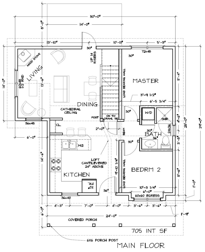 Cabin #3 Floor Plan