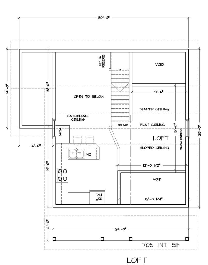 Cabin #3 Loft Plan