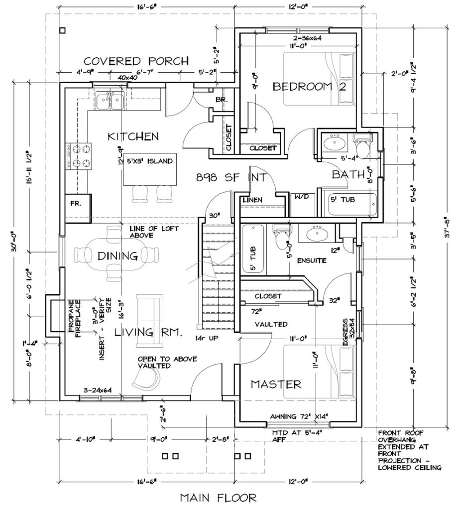 Cabin 6 Floor Plan