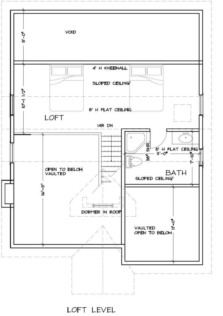 Cabin 6 Loft Plan